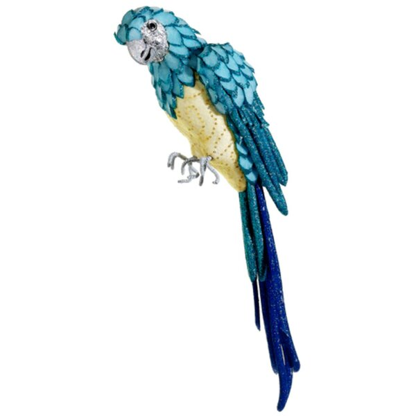 Tropical Paradise Life Size Parrot Bird with Tail Feathers by Tori Home