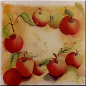Tuftop Apples Trivet by McGowan
