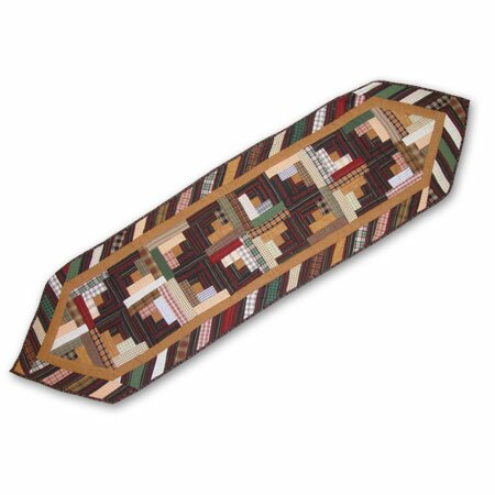 Dusty Diamond Log Cabin Table Runner by Patch Magic