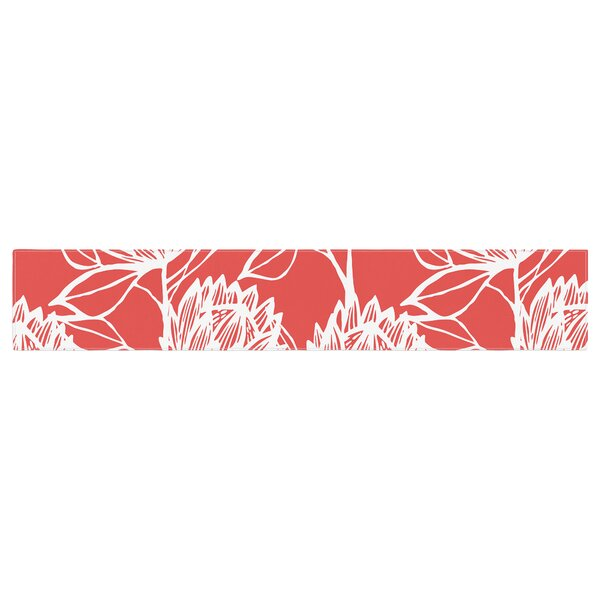 Gill Eggleston Protea Flowers Table Runner by East Urban Home