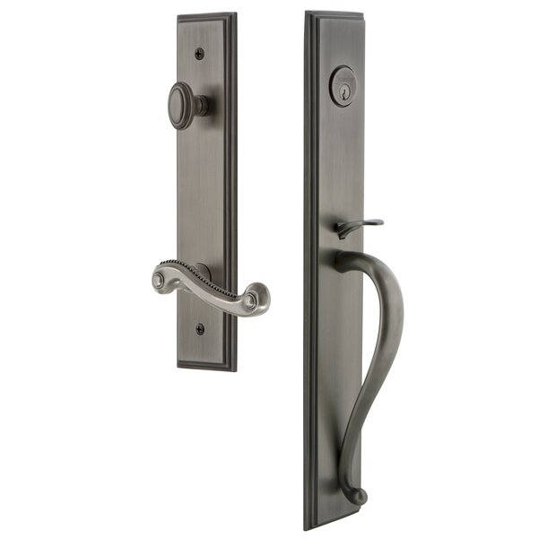 Carré S Grip Dummy Handleset with Newport Interior Lever by Grandeur