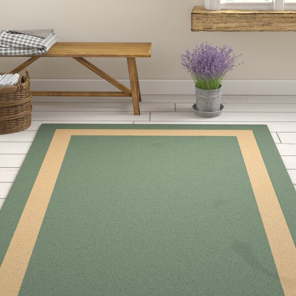 Koppel Hand-Woven Teal/Cream Area Rug by Gracie Oaks