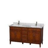 Hatton 60 Double Bathroom Vanity Set byWyndham Collection