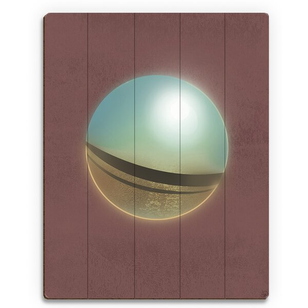 Reflecting Sphere Graphic Art on Plaque by Click Wall Art