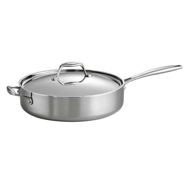Gourmet Tri-Ply Clad  5-qt. Saute Pan with Lid by Tramontina