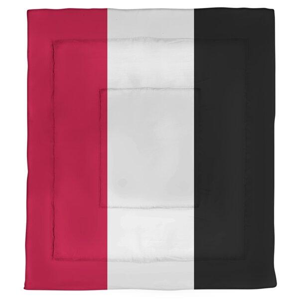College Stripes New Jersey College Microfiber Single Reversible Comforter