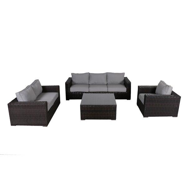 Woodham 4 Piece Sofa Set with Cushions