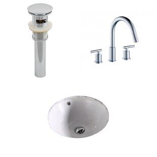 Comparison Ceramic Circular Undermount Bathroom Sink with Faucet and Overflow ByAmerican Imaginations
