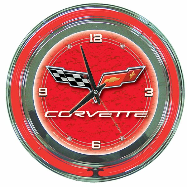 14 Corvette C6 Wall Clock by Trademark Global