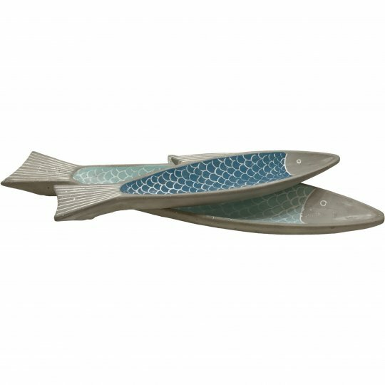 Houtz Cement Fish 2 Piece Serving Tray Set by Highland Dunes