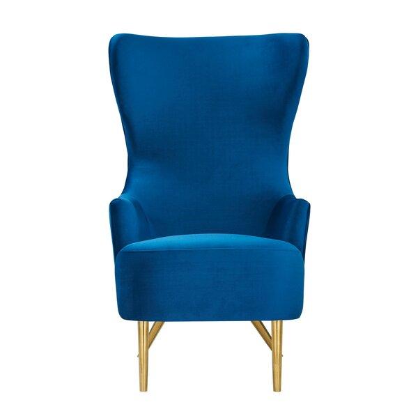 Duwayne Wingback Chair by Everly Quinn