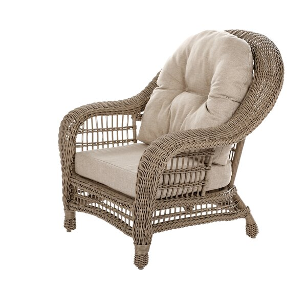 Whitcher Outdoor Garden Patio Chair with Cushions by Highland Dunes Highland Dunes