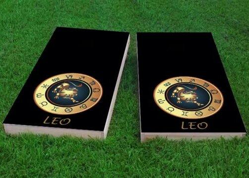 Zodiac Leo Themed Cornhole Game (Set of 2) by Custom Cornhole Boards