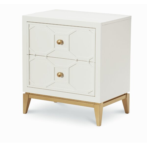 Chelsea 2 Drawer Nightstand with Decorative Lattice by Rachael Ray Home
