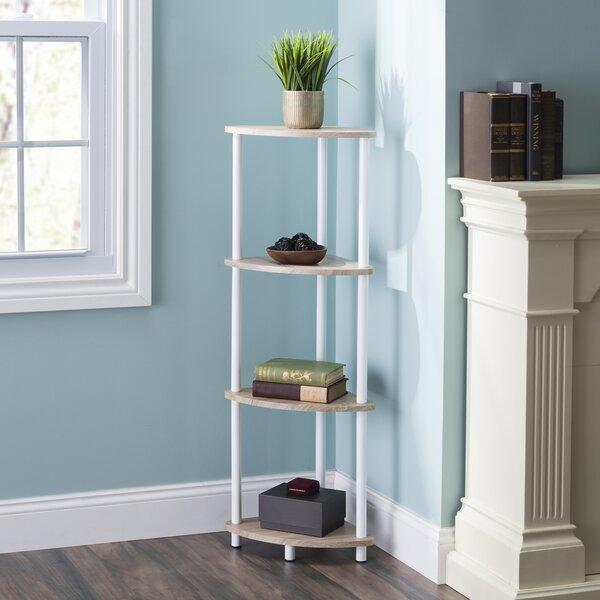 Blaze Pine Wood 3 Tier Arc Corner Bookcase by Rebrilliant