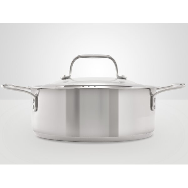 Stainless Steel Saucier with Lid by Chef's Design