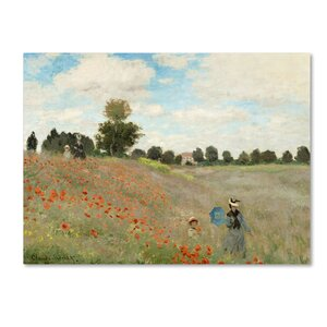 Wild Poppies Near Argenteuil by Claude Monet Painting Print on Wrapped Canvas by Trademark Fine Art