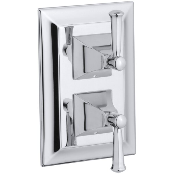 Memoirs Stately Valve Trim with Lever Handles for Stacked Valve, Requires Valve by Kohler