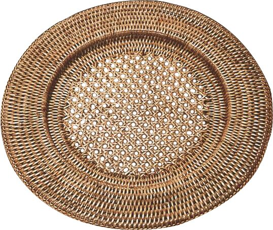 Syracuse 13 Open Weave Rattan Charger by Beachcrest Home