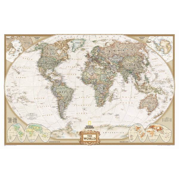 World Executive Wall Map by National Geographic Maps
