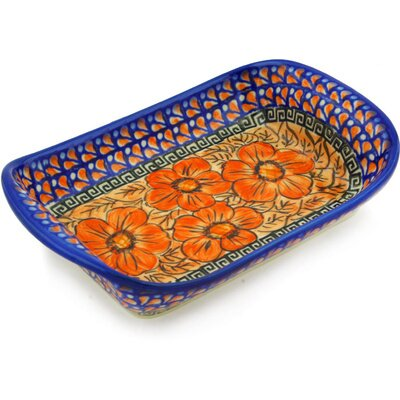 Polish Pottery 9 Rectangle Platter by Polmedia