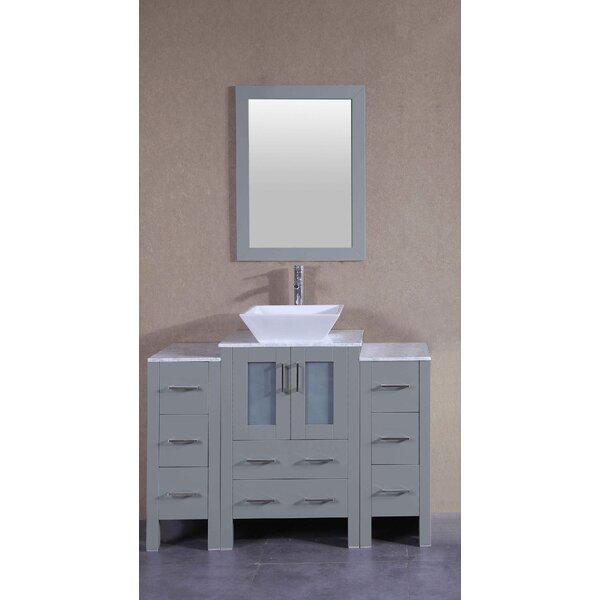 Harper 48 Single Bathroom Vanity Set with Mirror by Bosconi