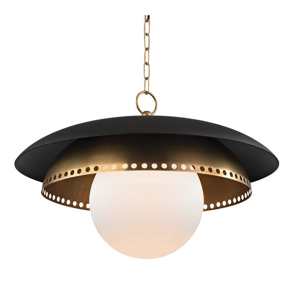 Irvine 1-Light Inverted Pendant by Corrigan Studio