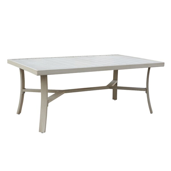 Caressa Aluminum Outdoor Rectangle Metal Coffee Table by Darby Home Co