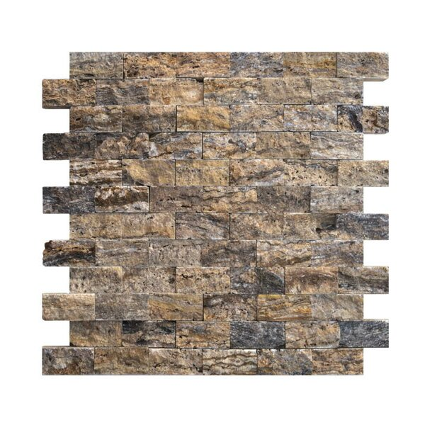 1 x 2 Natural Stone Mosaic Splitface Tile in Alpine by QDI Surfaces