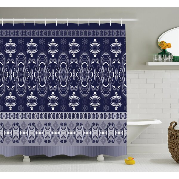 Daisi Indian Floral Horizontal Shower Curtain by Bungalow Rose
