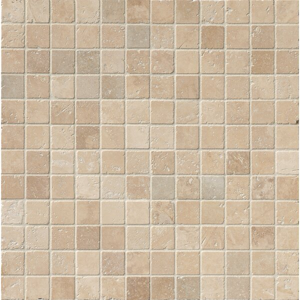 Tuscany Classic 2 x 2 Travertine Mosaic Tile in Beige by MSI
