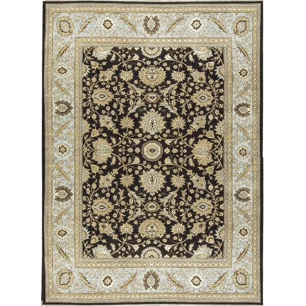 One-of-a-Kind Hand-Knotted Wool Black/Beige Indoor Area Rug by Bokara Rug Co., Inc.