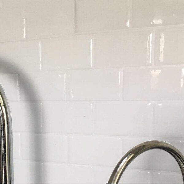 12 x 12 PVC Peel & Stick Subway Tile in White by A