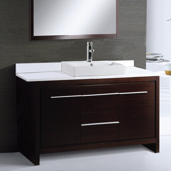 Alexa 48 Single Bathroom Vanity Set with Mirror by Adornus