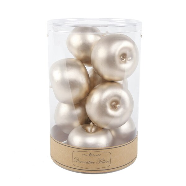 Rocky Metal Apples (Set of 8) by The Holiday Aisle