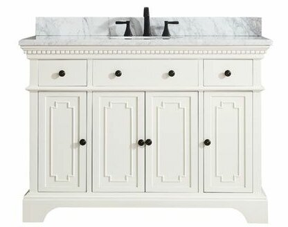 Ruthann Marble Top 49 Single Bathroom Vanity Set by Ophelia & Co.