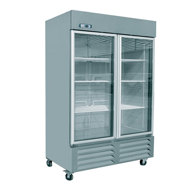 Commercial Glass Door Standing 46 cu. ft. Energy Star Counter Depth All-Refrigerator by EQ Kitchen Line