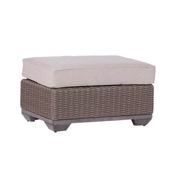 Simge Outdoor Ottoman with Cushion by Latitude Run