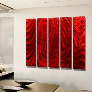 5 Piece 'Hypnotic Sands Epic' Wall Décor Set ByOrren Ellis