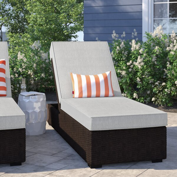 Oreland Chaise Lounge with Cushion by Sol 72 Outdoor