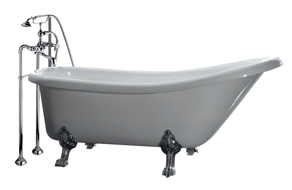 Ove decors clawfoot 66 39 x 28 acrylic slipper tub for Acrylic clawfoot tub reviews