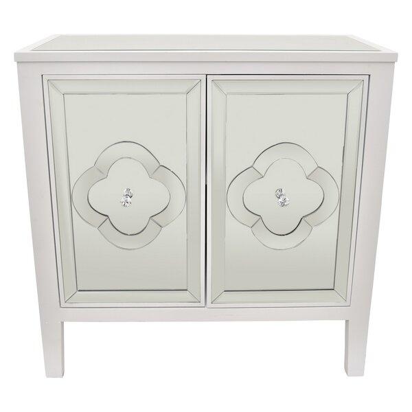 Braylen Wood Mirror 2 Door Accent Cabinet by House of Hampton