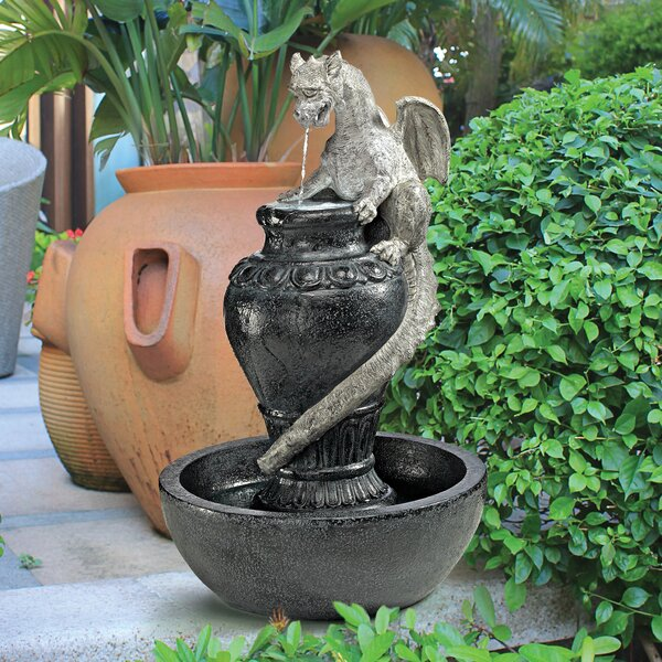 Resin Viper Dragon Sculptural Fountain with LED Light by Wildon Home ®
