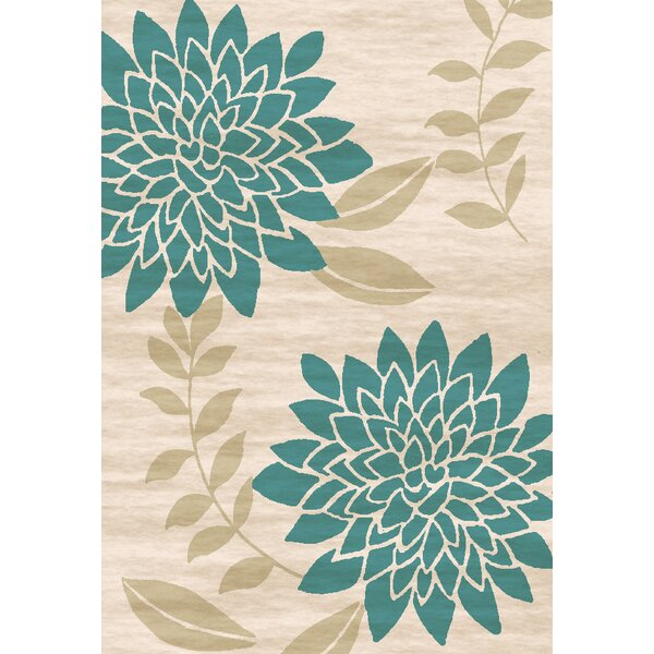 Bradshaw Hand-Tufted Teal/Ivory Area Rug by Winston Porter