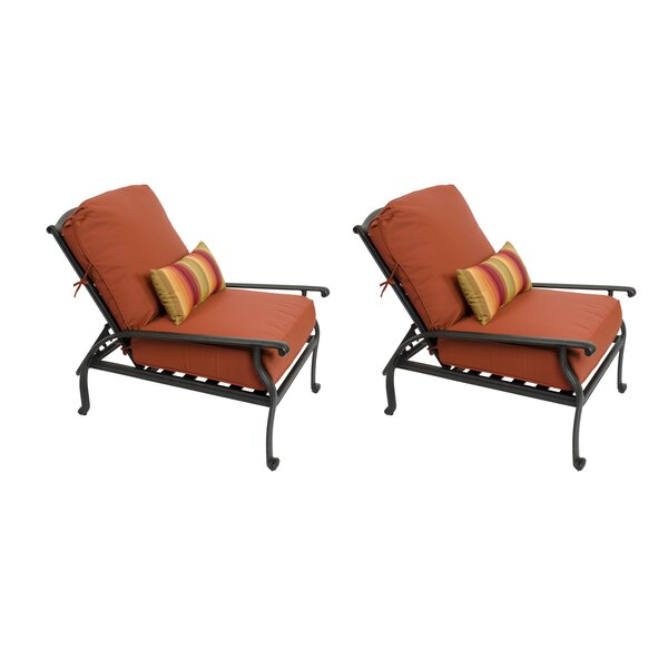Penkridge Recliner Patio Chair with Sunbrella Cushions (Set of 2) by Canora Grey Canora Grey