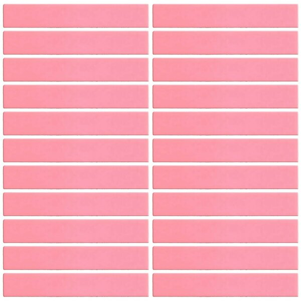 Bijou 16 1 x 6 Glass Subway Tile in Coral Pink by Susan Jablon