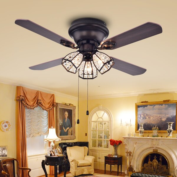 42 Tarudor 4-Blade Ceiling Fan by Warehouse of Tiffany