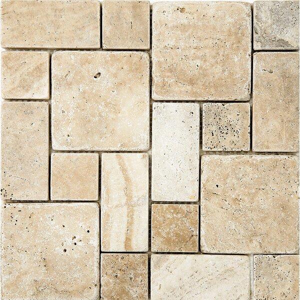 Philadelphia Roman Pattern Tumbled Random Sized Stone Mosaic Tile by Parvatile