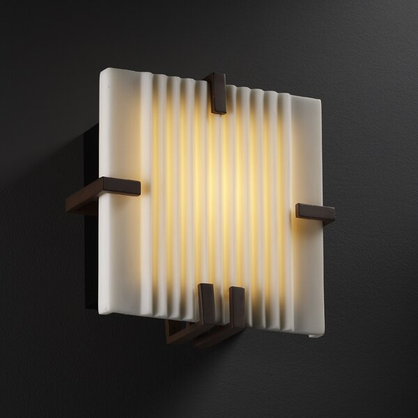 Wiedman Square 1-Light LED Flush Mount by Bloomsbury Market