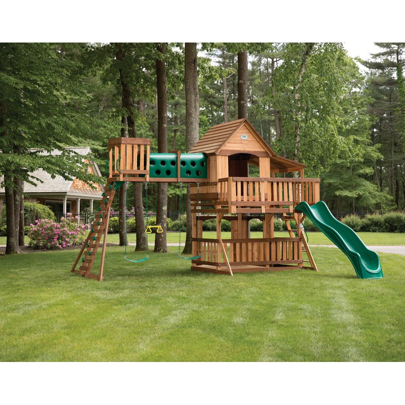 Backyard Discovery Woodridge Elite All Cedar Wooden Swing Set